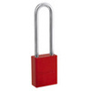 Pro Series®, Safety Lockout Padlock, Aluminum, Red, Keyed Different