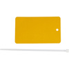 Write-On Tag, Metal, Yellow, 5 in, 3 in, 1 per Each