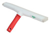 Floor Squeegee, Rubber, 14 in, White, Threaded
