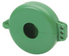 Wheel Valve Lockout Cover, Green 2-1/2 in - 5 in Wheel Dia