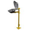 Halo, Eyewash Station, Pedestal Mount, Yellow
