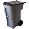 Recycling Rollout Container, 65 gal, Gray