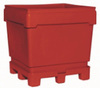 MonsterCombo®, Combo Bin, 48 x 44 in, Replaceable Pallet, 4-Way, Natural, Polyethylene