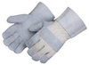 Leather Gloves, Split, Leather, Wing, White, Universal