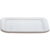 Rubbermaid FG361600WHT White Polyethylene Tote Lid, 15 x 12-3/4 inches