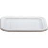 Rubbermaid FG361600WHT White Polyethylene Tote Lid, 15 x 12-3/4 inches