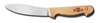 Skinning Knife, Brown, Honed, 5-1/4 in, 5 in, High Carbon Steel, Hardwood, 10-1/4 in, Brass Compression Handle Rivets
