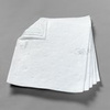 Absorbent Pad, Polypropylene / Polyester, 37.5 @ ASTMF 726-81|26 @ ASTMF 726-06 gal, White, 19 in, 17 in, Oil Only, 100 per Case