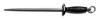 Sani-Safe®, Steel Sharpener, Black, Steel, 5 in, Polypropylene, 1/2 in, 19 in, Slip-Resistant, Polished / Smooth Cut, Finger Guard with Ring, 14 in