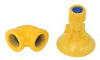 SpinTec, Shower Head, Plastic, Yellow