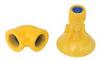 SpinTec, Shower Head, Plastic, Yellow