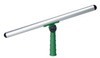 Window Squeegee, Aluminum, 14 in, Green