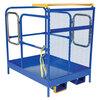 Fork Mounted Work Platform, 1000 lbs, Double Gate, 36 L x 48 W in, Welded Steel