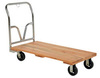 Platform Truck, 1600 lbs, 60 L x 30 W x 9-1/2 H in, Hardwood / Steel (Handle)