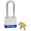 Non-Rekeyable Padlock, Laminated Steel, Blue, Keyed Alike