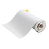 Printer Tape, Vinyl Film, Gloss, White, 10 in, 50 ft