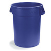 Bronco, Round Container, 10 gal, Blue, Round, 16.3 Dia x 17 H in, Linear Low-Density Polyethylene, 17 in, 16.13 in, 341011 Series Lid, No, NSF 21 Listed, NSF 2, 6 per Pack, Heavy-Duty, BPA-Free