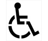 Parking Lot Stencils, (HANDICAP SYMBOL), Polyethylene