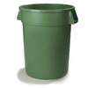 Bronco, Round Container, 10 gal, Green, Round, 16.3 Dia x 17 H in, Linear Low-Density Polyethylene, 17 in, 16.13 in, 341011 Series Lid, No, NSF 21 Listed, NSF 2, 6 per Pack, Heavy-Duty, BPA-Free