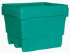 MonsterCombo®, Combo Bin, 48 x 44 in, Pallet, 2-Way, Natural, Polyethylene, Drain