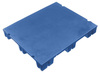 Microban®, Slip Sheet Pallet, 40 L x 48 W in, 6 in, High-Density Polyethylene, Blue, Impact-Resistant, 4-Way Entry, 9 Legs