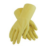 PIP® Assurance® 47-L171N Unsupported Gloves, Natural, Natural Latex Rubber, 18 mil, Raised Diamond, 11.8 in, Straight, Flock