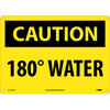 National Marker Company CU-62383 Caution 180° Water Sign, Plastic, 10 in. H X 14 in. W