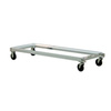 Chill Tray Dolly, 64-3/4 L x 22-1/2 W x 9-5/8 H in, 750 lbs, Aluminum, 2 (Swivel Caster) / 2 (Rigid Caster), 5 in, Without Handle