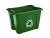 Recycling Box, 14 gal, Green