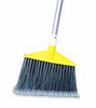 Angle Broom, Polypropylene, Vinyl, Flagged Bristles, Yellow