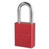 American Lock®, Safety Lockout Padlock, Aluminum, Keyed Different