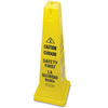 Safety Cone, 36 in, Caution Safety First, Multi-Lingual