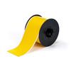 Printer Tape, Vinyl Film, Gloss, Yellow, 3 in, 100 ft