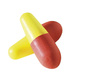 Howard Leight®, Disposable Earplug, Uncorded, Yellow / Coral, Pill, 31 dB