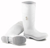 Dunlop 81011 Plain Toe Boot, White, PVC, Plain