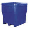 Combo Bin, Pallet, 2-Way, Gray, Polyethylene, Drain