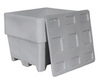 Stackable Lid, Gray, Stackable Lid, 1100 Series Bins