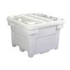 Bonar Plastics 3028 Poly Combo Bin, Gray Color, W/Drain, W/Lid