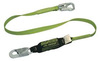 Miller 5K® 913B/6FTGN Shock Absorbing Lanyard, Polyester Webbing, Green, 6-ft Locking Snap Hook (Harness), 310 lb