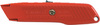 Utility Knife, Metal, Metal, Orange, Contoured, 5-7/8 in, Retractable, (1) 11-987 Blade, Interlocking Nose Design, Hang Hole, Spring Loaded