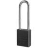 American Lock®, Safety Lockout Padlock, Aluminum, Black, Keyed Alike