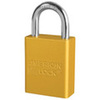 American Lock®, Safety Lockout Padlock, Aluminum, Yellow, Keyed Alike