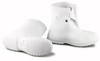 Dunlop® 81020 Plain Toe Overshoe, PVC, Pull-On Button Hook, White