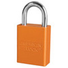 American Lock®, Safety Lockout Padlock, Aluminum, Orange, Keyed Different