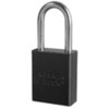 American Lock®, Safety Lockout Padlock, Aluminum, Black, Keyed Different