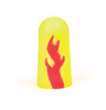 E-A-Rsoft, Disposable Earplug, Uncorded, Yellow / Red, Tapered, 33 dB