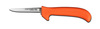 Deboning Knife, Drop Point, Ergonomic, Sharped, 5 in, 8-3/4 in, Slip-Resistant, Orange, 12 per Box, USDA Approved, Re-Sharpenable Blade, 3-3/4 in