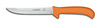 Deboning Knife, Stiff|Straight, Ergonomic, Sharped, 5 in, 11 in, Slip-Resistant, Orange, 12 per Box, USDA Approved, Re-Sharpenable Blade, 6 in