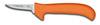Deboning Knife, Standard, Ergonomic, Sharped, 5 in, 7-1/2 in, Slip-Resistant, Orange, 12 per Box, USDA Approved, Re-Sharpenable Blade, 2-1/2 in