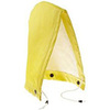Rain Hood, Ribbed PVC on Non Woven Polyester, Yellow / Olive Green, Universal